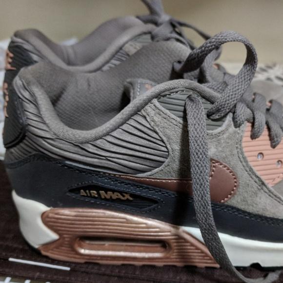 Nike Air Max Grey and Rose Gold sneakers